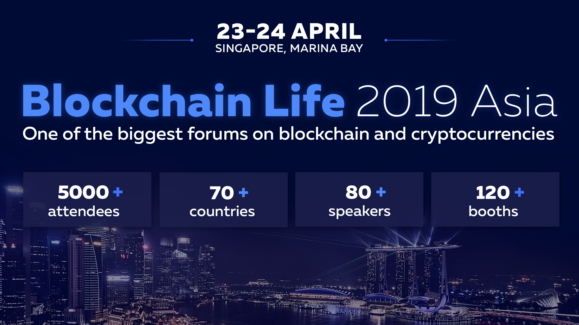23-24 April Singapore hosts Blockchain Life 2019 – a global forum on blockchain and cryptocurrencies