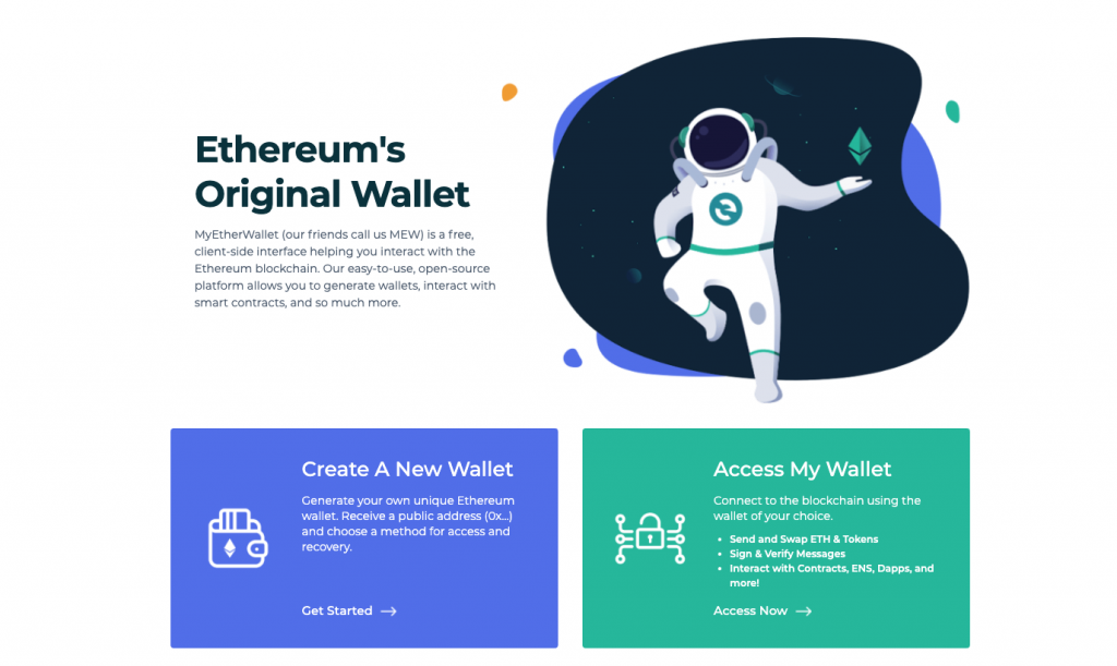 MyEthereWallet or MEW one of the most popular web based wallets for Ethereum and Ethereum tokens