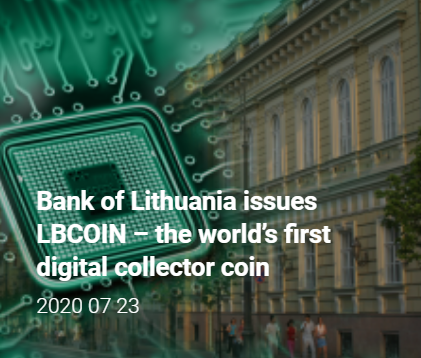 Bank Of Lithuania Releases NEM-Based Collector Token: Report