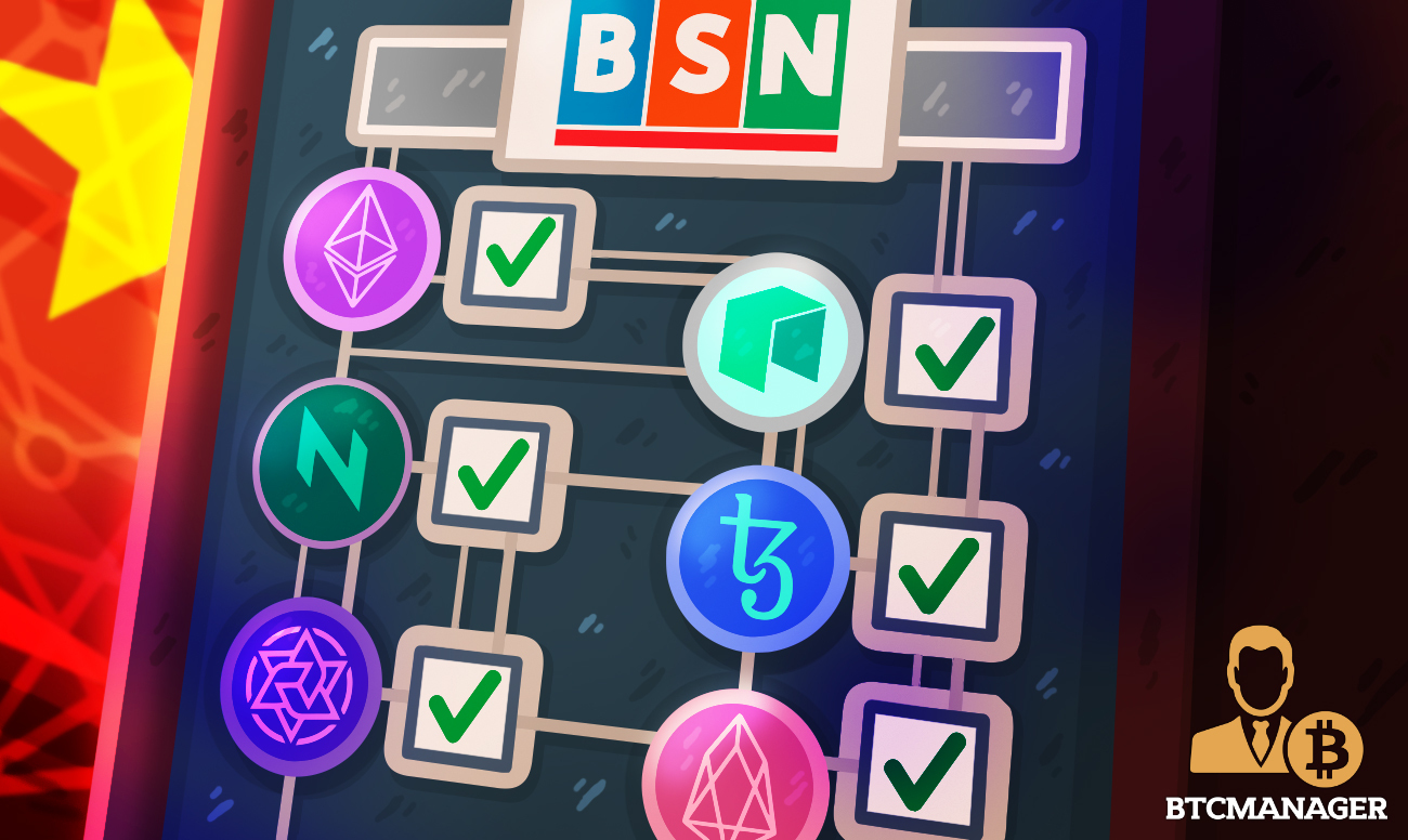 China's Blockchain-Based Service Network (BSN) Integrates Ethereum, Tezos, and Four Other Public Chains
