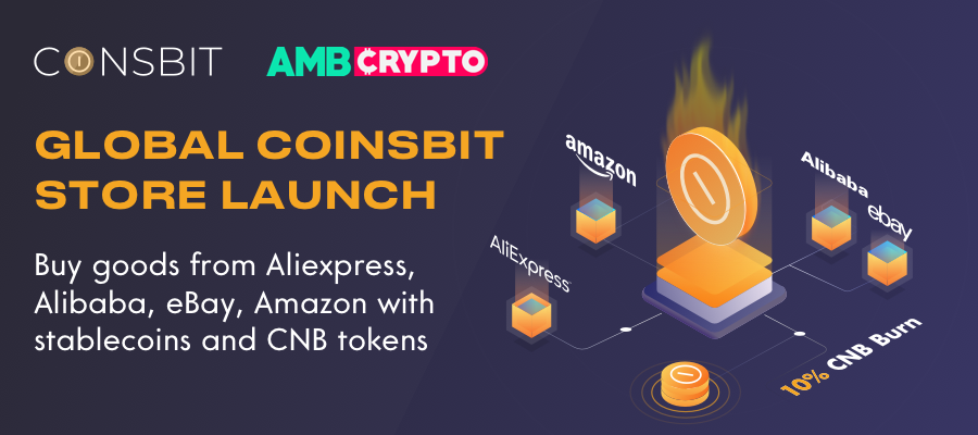 Coinsbit Exchange launches Global Marketplace and burns 10% of CNB tokens