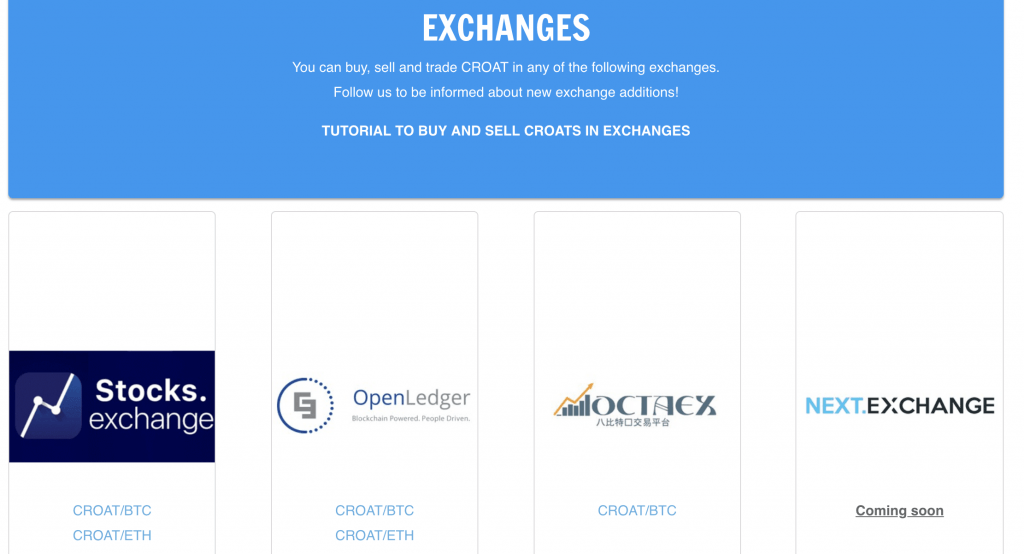 Croat Exchanges