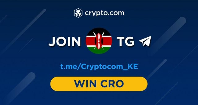 crypto.com launches in Kenya; giving users a chance to win KES 50,000 worth of crypto.