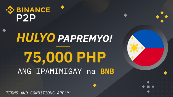 [Promotion] Binance July Promo: 75,000 Php Worth of BNB Giveaway