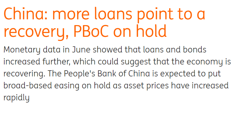 China more loans point to recovery article.