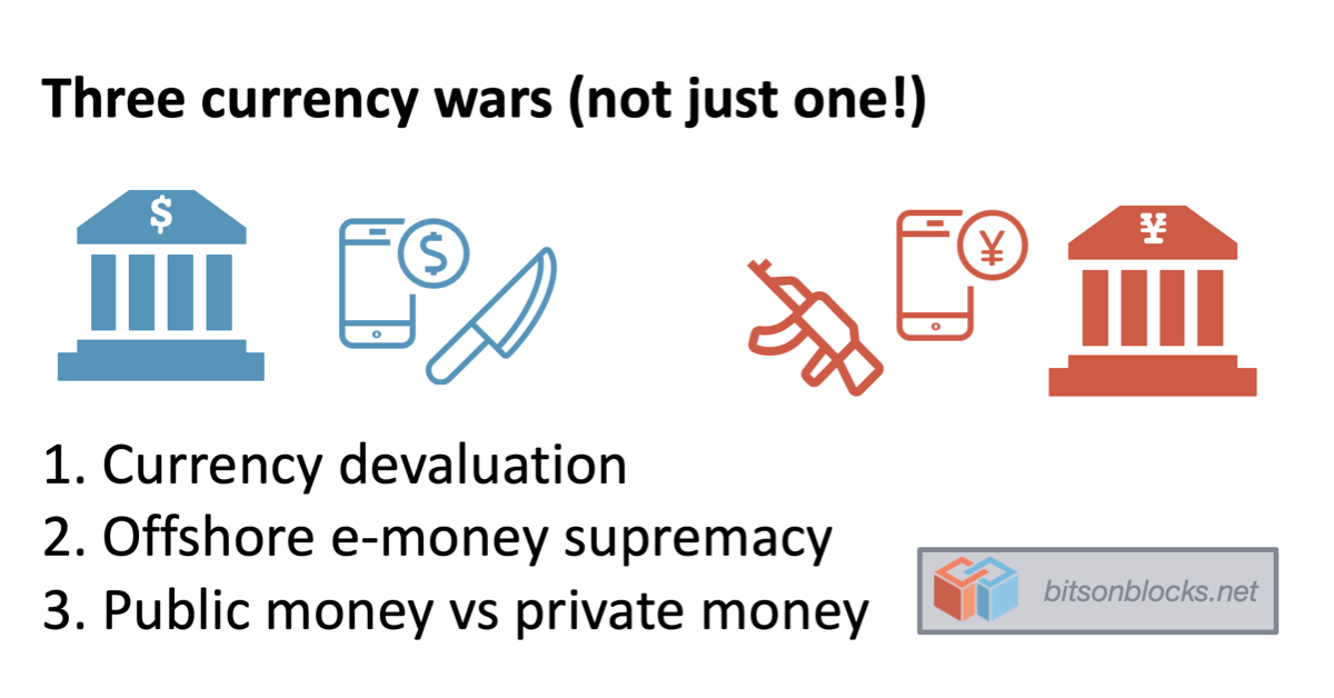 Three currency wars, not one