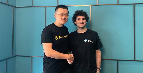 Sam Bankman-Fried with Binance's Changpeng Zhao