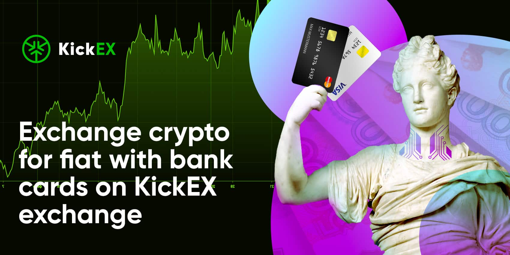 KickEX Adds Buying Crypto For Fiat With Bank Cards
