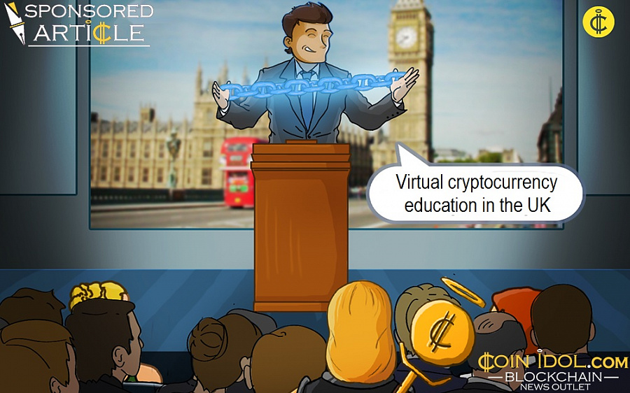 Virtual cryptocurrency education in the UK