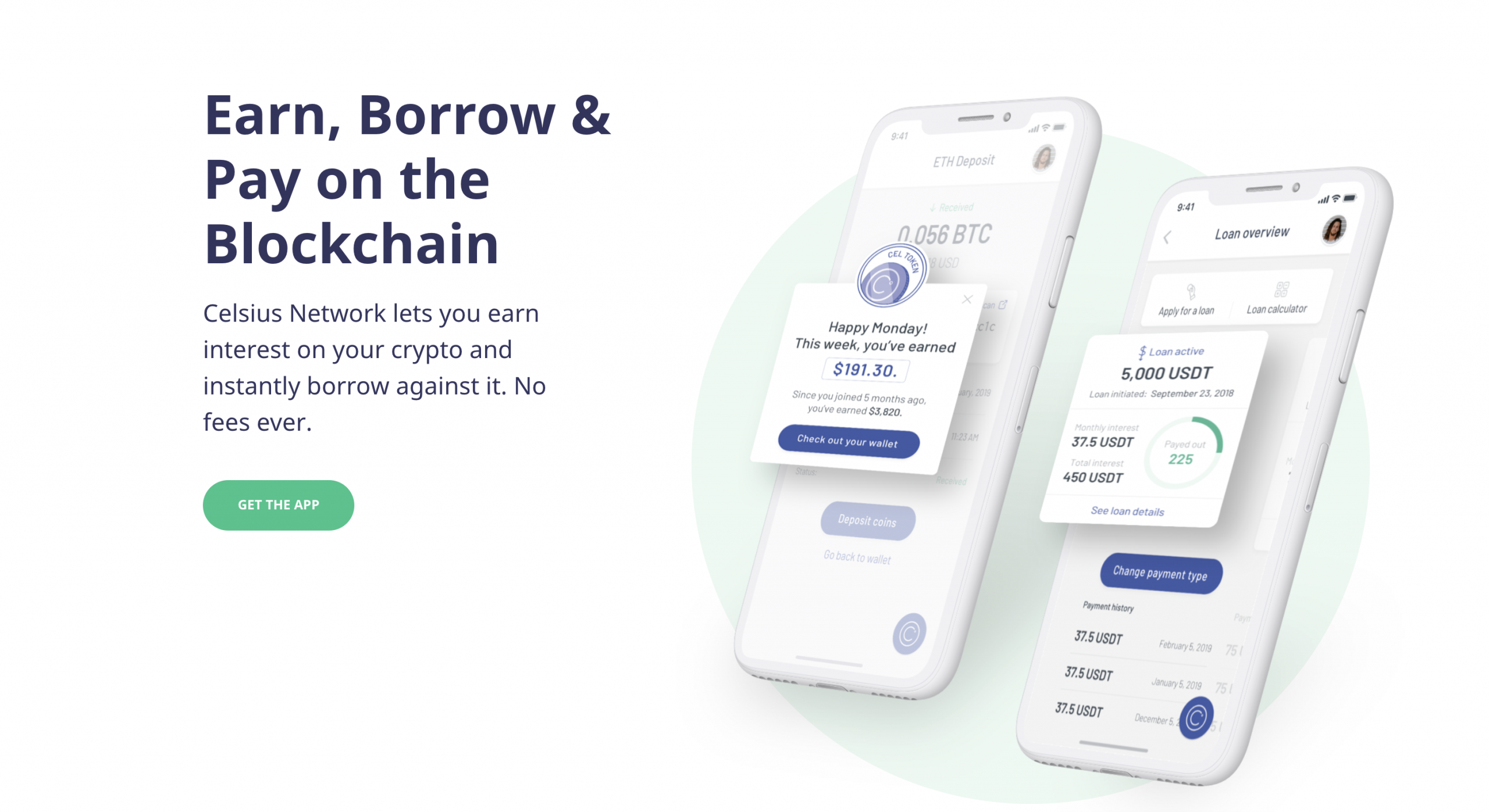 Celsius Network earn interest and borrow funds with cryptocurrency-backed loans