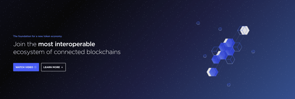 Cosmos Internet of blockchains website screenshot