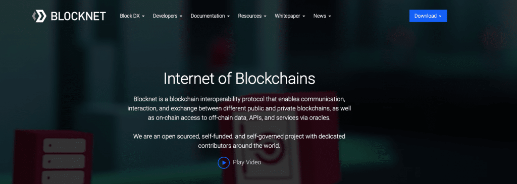 Blocknet (BLOCK) website screenshot