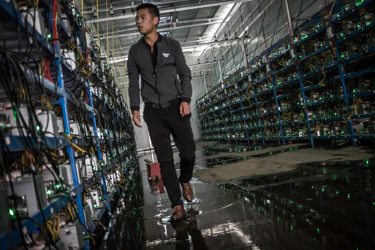 A look inside one of the world's largest Bitcoin mining operations.