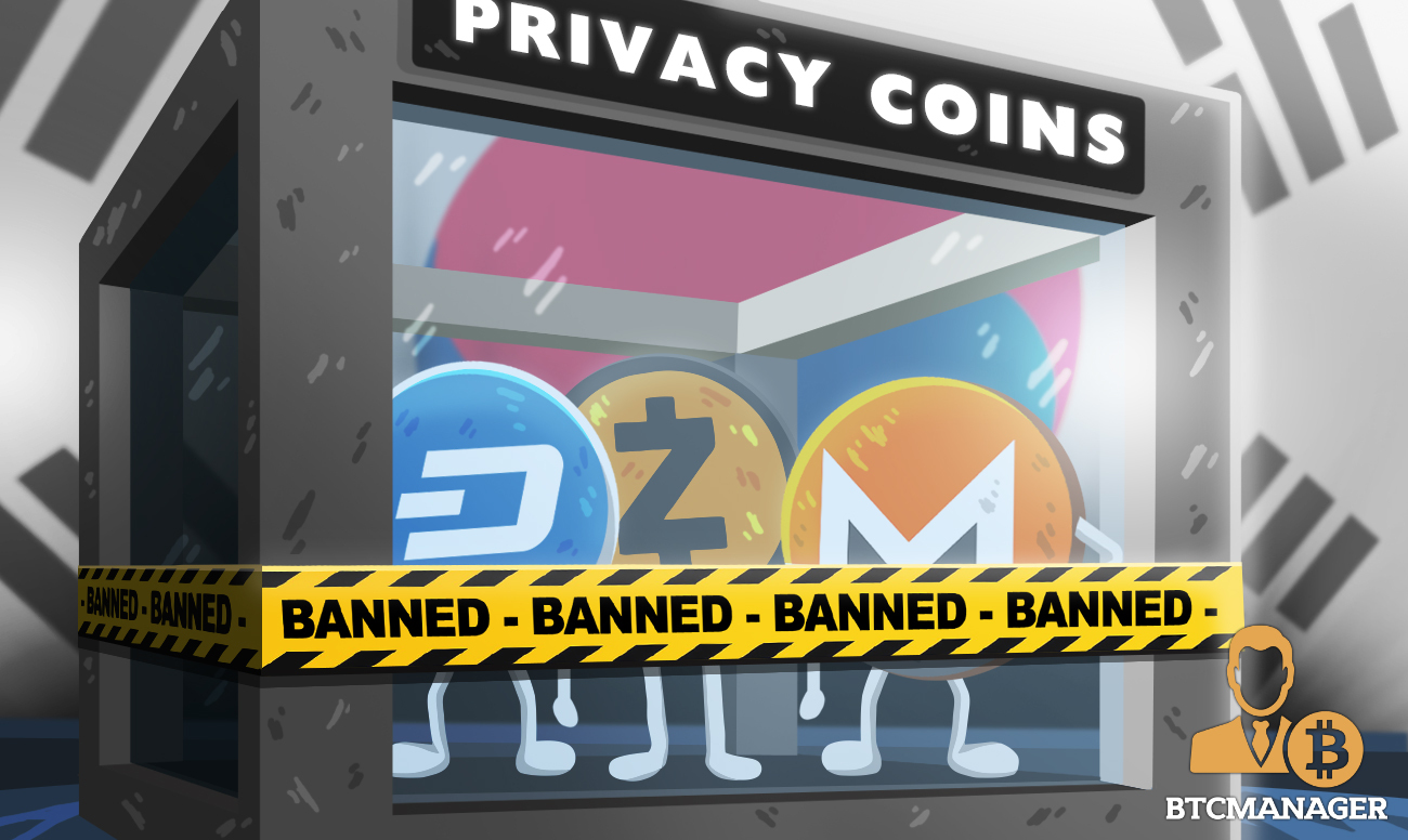 South Korean Government Bans Privacy Coins as Part of Anti-Money-Laundering Drive