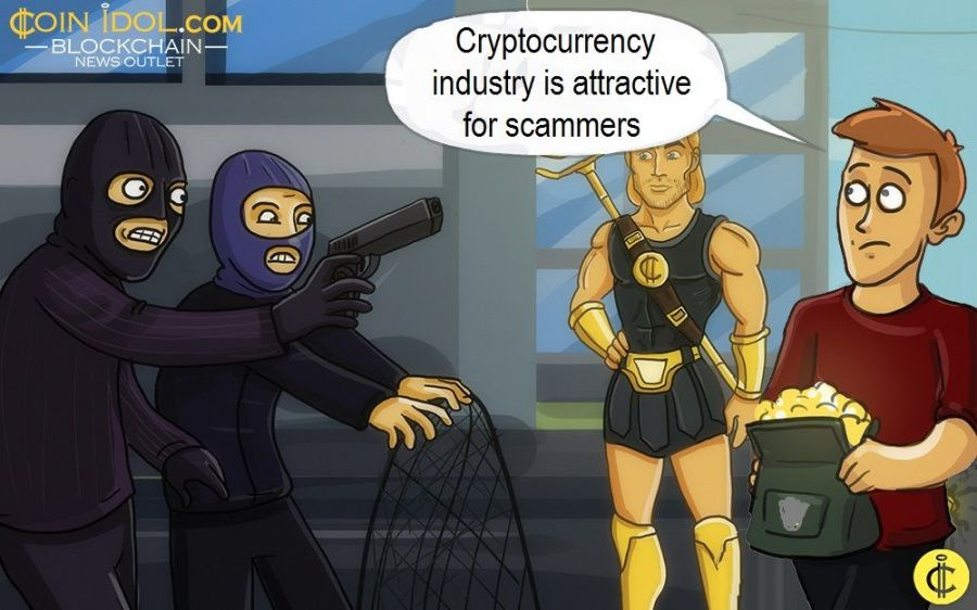 Cryptocurrency industry is attractive for scammers