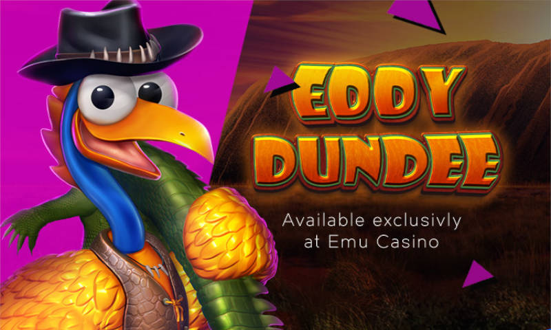 12 Free Spins on Eddy Dundee at Emu Casino