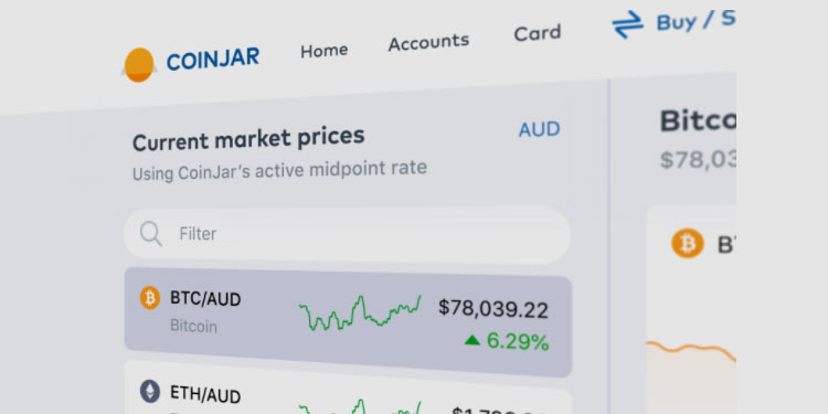 Aussie crypto exchange CoinJar launches new web app