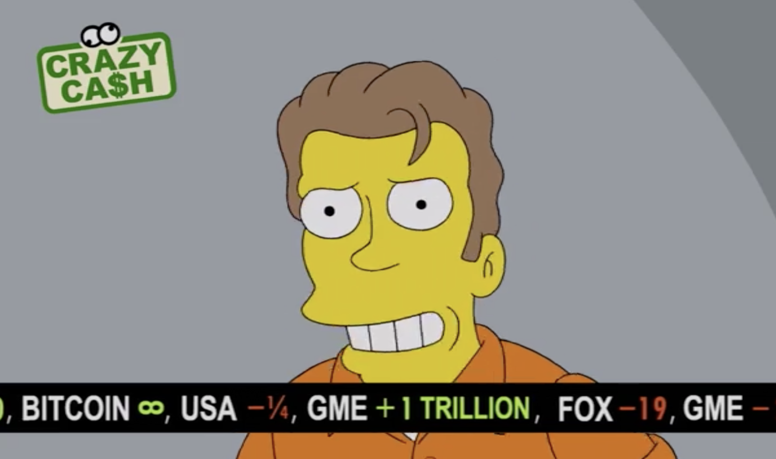 Bitcoin goes yellow as Simpsons episode features BTC price rising to infinity