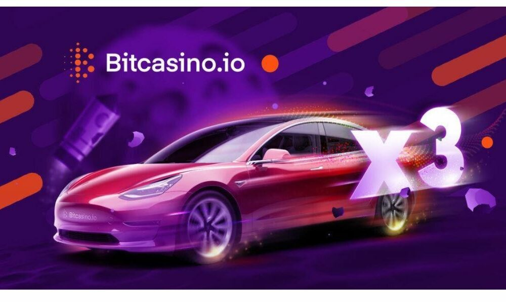 Fly to the moon and Win a Tesla with Bitcasino's new game, Live Crash