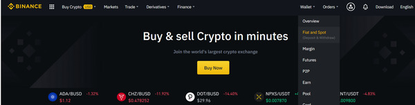 Binance buy and sell crypto in minutes.