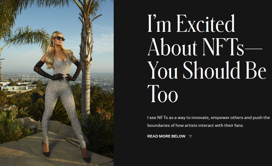 Paris Hilton drops surprisingly well-informed article about NFTs