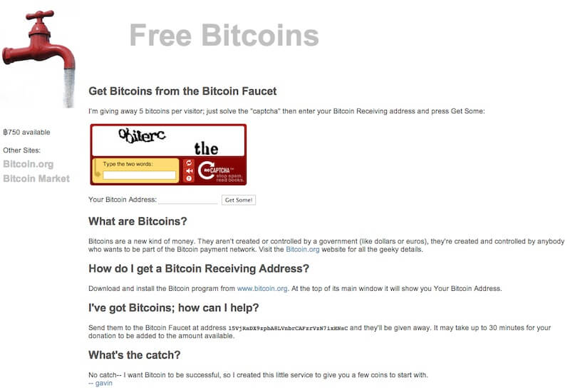 Reddit reminisces defunct 'Bitcoin faucet' website that gave away 19,700 BTC for free