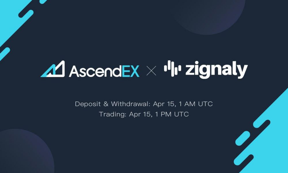 Zignaly to be listed on AscendEX