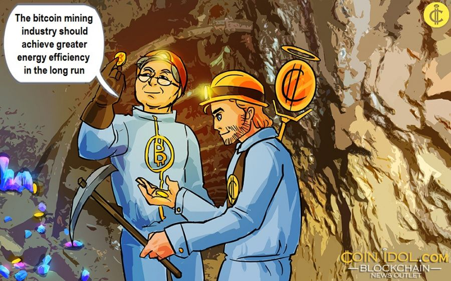 The bitcoin mining industry should achieve greater energy efficiency in the long run