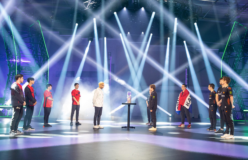 REYKJAVIK, ICELAND - MAY 30: Team Sentinels, (L) face-off with team Fnatic onstage at the VALORANT Champions Tour 2021: VCT Masters Reykjavík Grand Finals on May 30, 2021 in Reykjavik, Iceland. (Photo by Colin Young-Wolff/Riot Games)