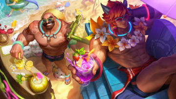Pool Party Braum shares splash art with Pool Party Sett.