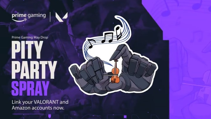 The Pity Party Spray is now available with Prime Gaming.