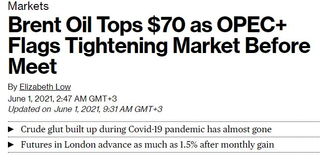 Brent oil article