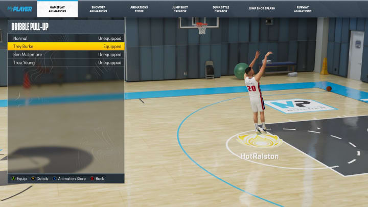 Here are the best dribble pull-up, spin jumper and hop jumper animations to equip in NBA 2K22 MyCareer on Current Gen and Next Gen.